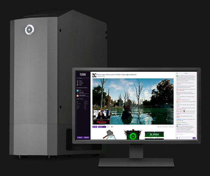 GENESIS and monitor streaming Twitch