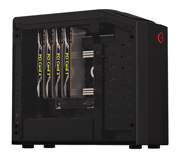 90-Degree Orientation with 4 way SLI Graphics Cards