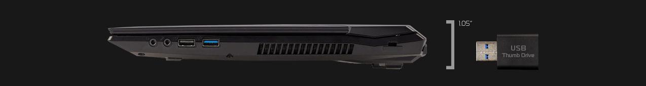 Right profile view of EON15-S