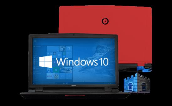 EON17-X gaming laptop running Windows 10