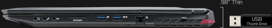 Right profile view of EVO17-S