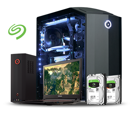 ORIGIN PCs with Seagate BarraCuda and FireCuda Hard Drives