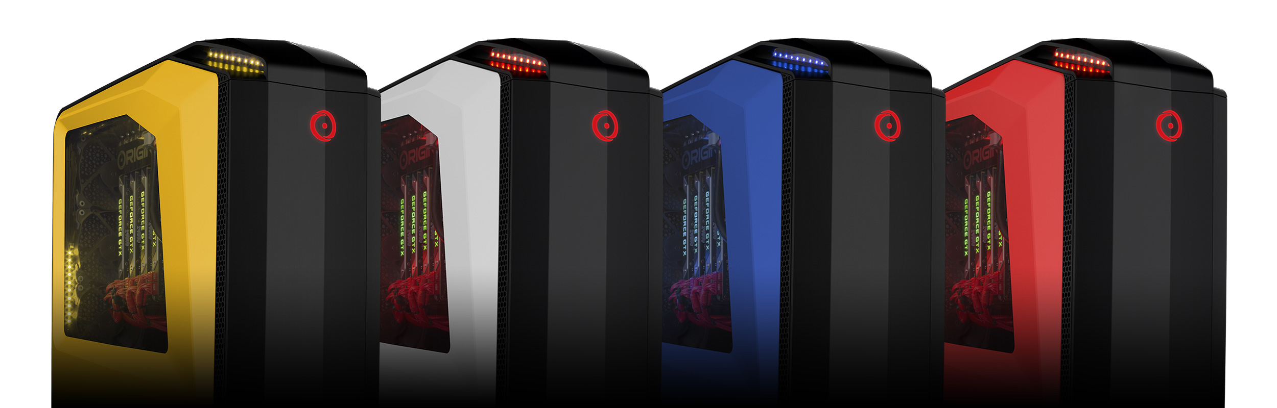 Line up of all available case colors