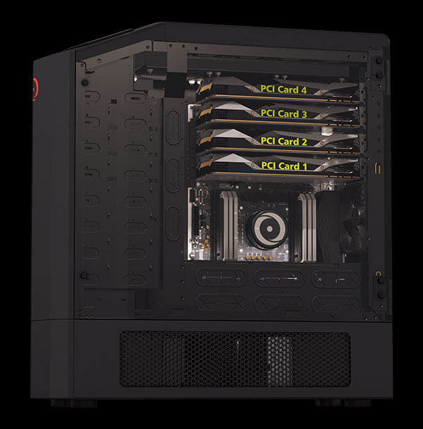 Inverted Orientation with 4 way SLI Graphics Cards