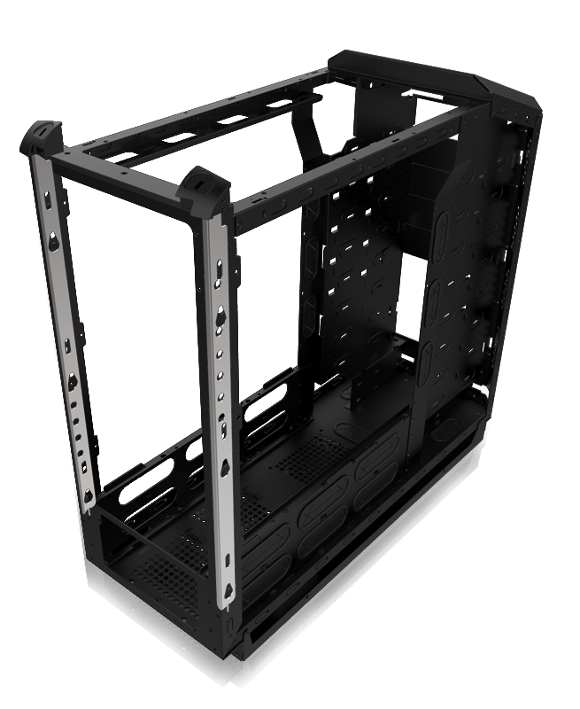 Frame chassis highlighting security mechanism