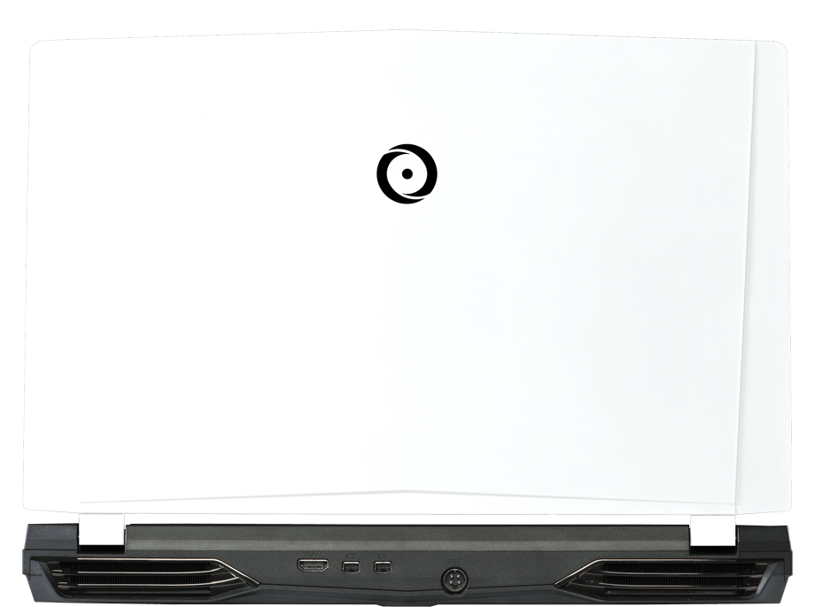 Back view of EON15-X Pro with traditional white panel