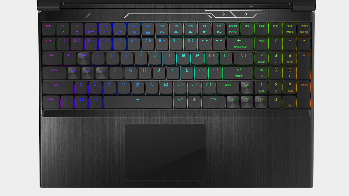 NS-15S multi-colored backlit RGB hybrid mechanical keyboard